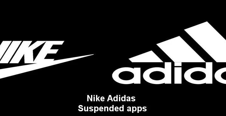 Nike, Adidas usw. Angehaltenes Herunterladen von Apps wie