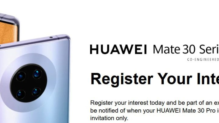 Huawei Mate 30 Pro launches in a new country.