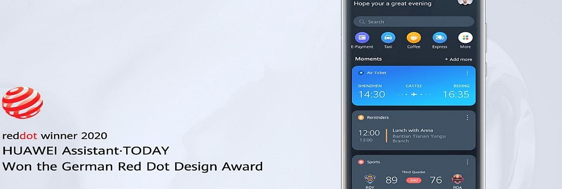 HUAWEI Assistant · TODAY Red Dot Award 2020