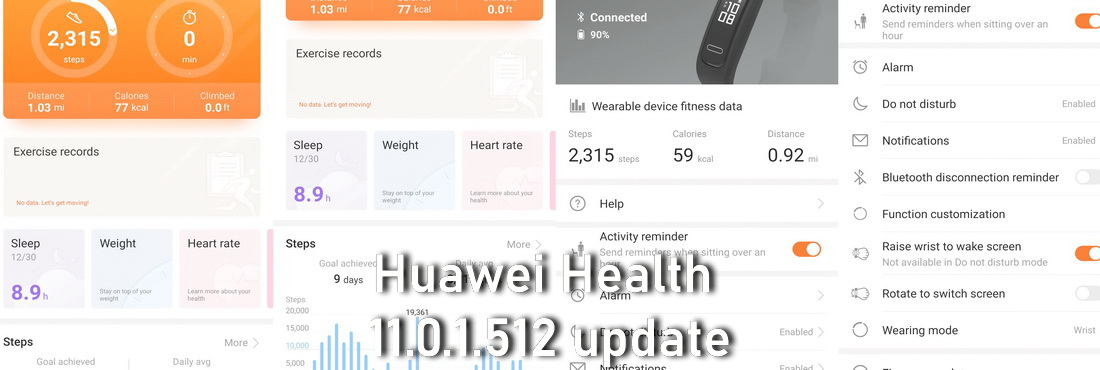 Huawei Health 11.0.1.512 update released download install
