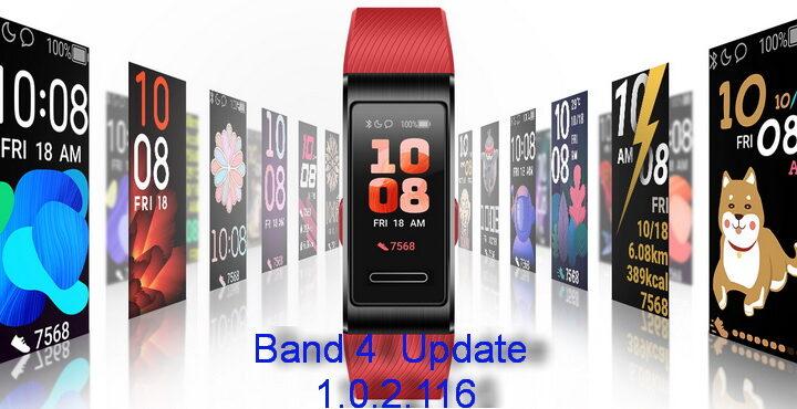 Huawei Band 4 New Update 1.0.2.116