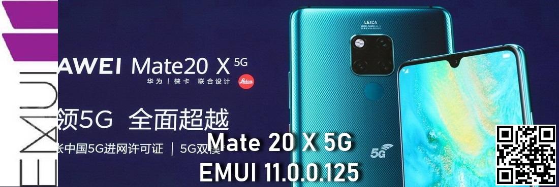 Mate 20 X EMUI 11.0.0.125 beta update