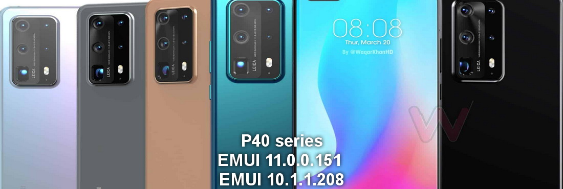 Huawei P40 series EMUI 11.0.0.151 and EMUI 10.1.1.208 updates