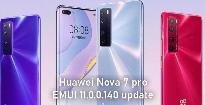 Huawei Nova 7 released EMUI 11.0.0.140 update, file transfer function added