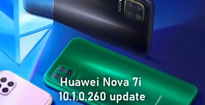 Huawei Nova 7i receives 10.1.0.260 update