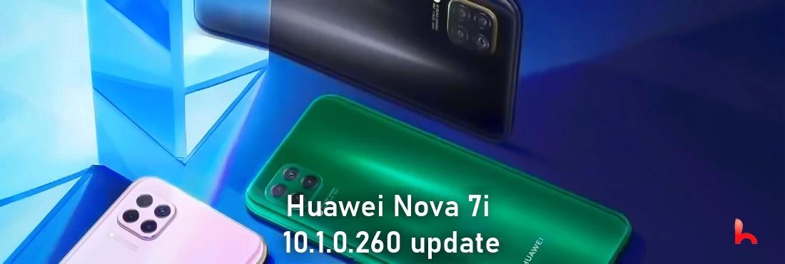 Huawei Nova 7i receives 10.1.0.260 update