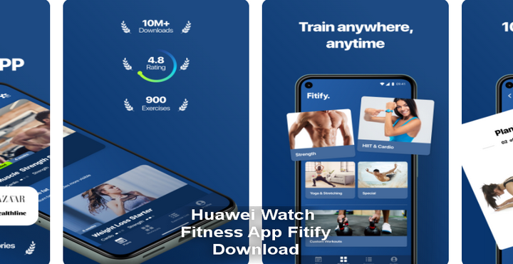 Download Fitness App Fitify on HUAWEI Watch GT 2 Pro
