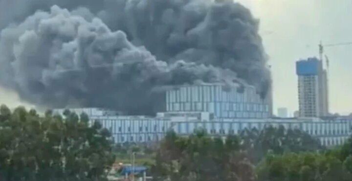 Fire report on the Huawei Dongguan Campus building