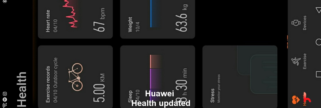 Huawei Health updated, download version 11.0.4.523
