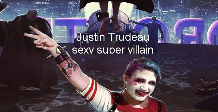 Chinese artist depicts Canadian Prime Minister Justin Trudeau as sexy super villain Harley Quinn