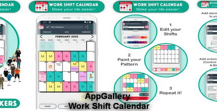 Work Shift Calendar (Shifter) AppGallery added, download Work Shift Calendar