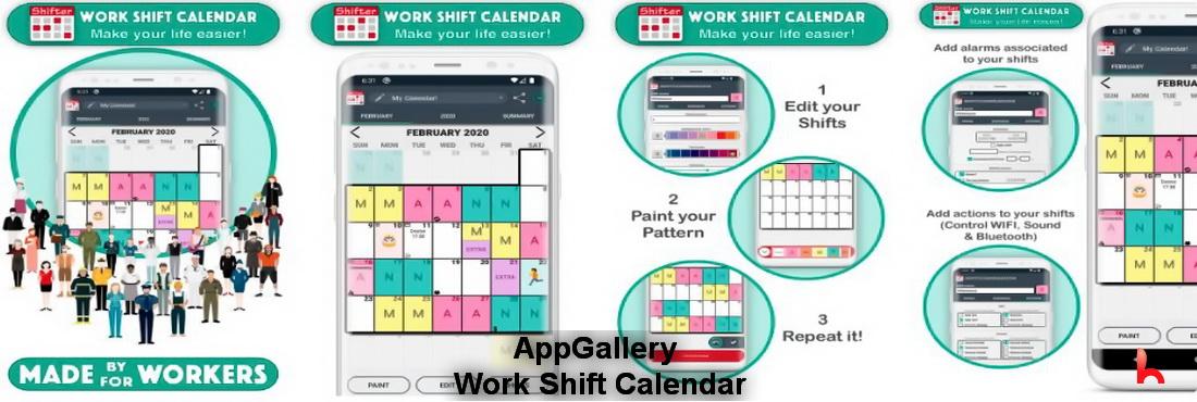 Work Shift Calendar (Shifter) AppGallery added, download Work Shift Calendar