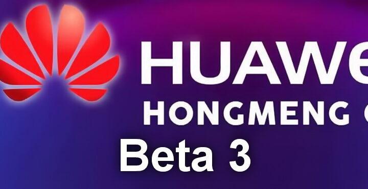 Huawei Harmony OS Beta 3 released