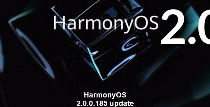 Huawei P50 Pro, Hongmeng HarmonyOS 2.0.0.185 update