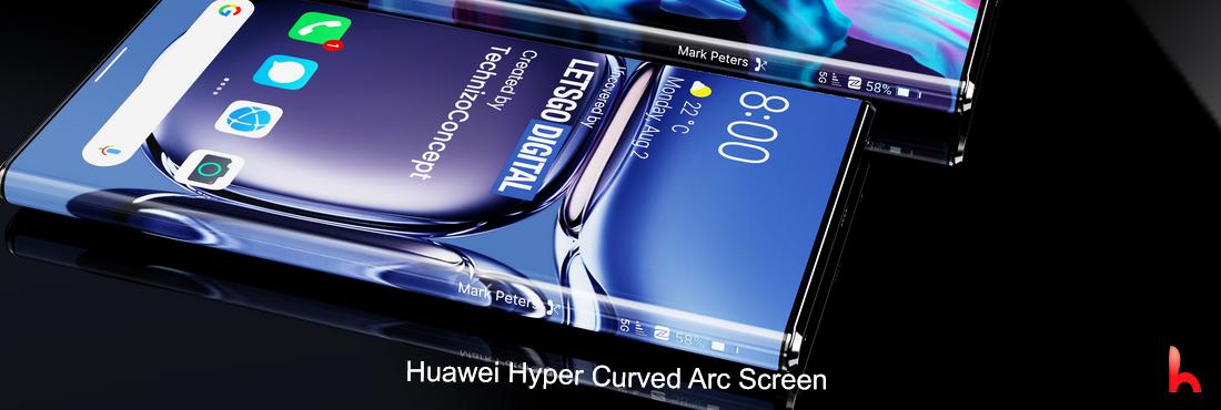 Huawei Hyper Curved Arc Screen phone