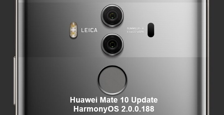 Huawei Mate 10 series HarmonyOS 2.0.0.188 version update