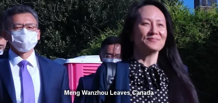 Huawei CFO Meng Wanzhou Leaves Canada